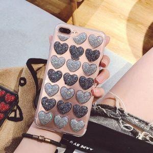 NEW iPhone Max/XR/X/XS/7/8/Plus 3D Heart case